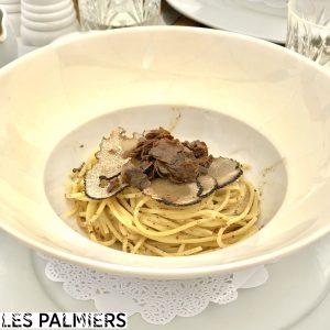 Pâtes à la truffe Les Palmiers Saint-Tropez