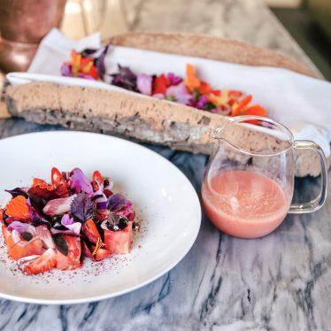 La soupe froide de tomates et pastèque par Vincent Maillard