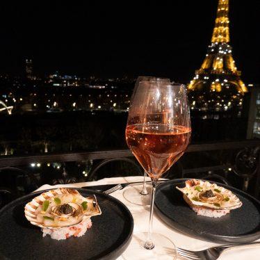 Scallops carpaccio, mushroom flower & caviar by the chef Irwin Durand
